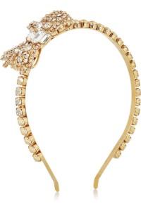MIU-MIU水晶和人造珍珠发箍